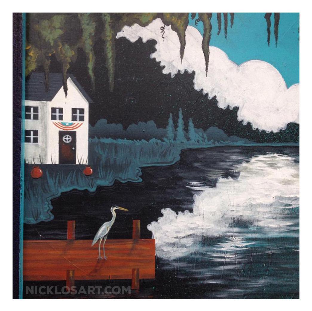 Folk Art Heron
