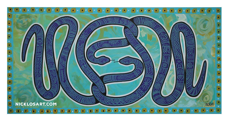 Snaker Dancer Folk Art