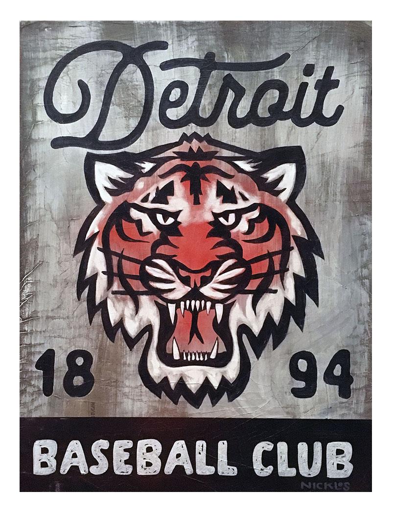 Detroit Tigers Inspired Art