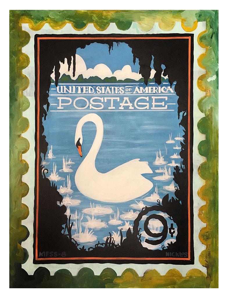 Swan Postage Stamp