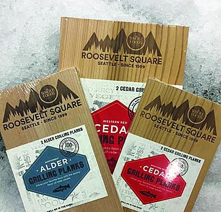 cedar plank artwork  I created these logos for use on wood grilling planks that are available for purchase at Whole Foods Market