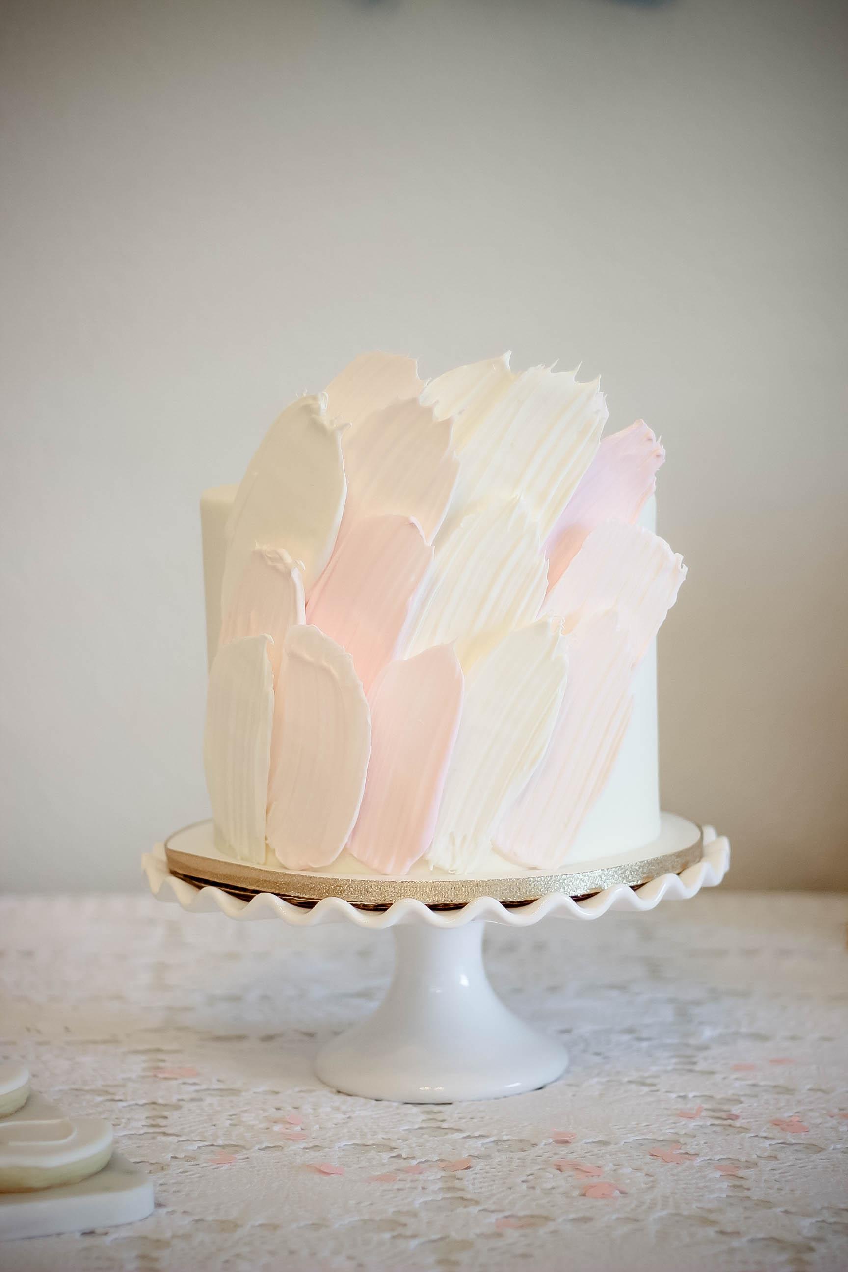 Brush Stroke Cake by  Dessert Junkie