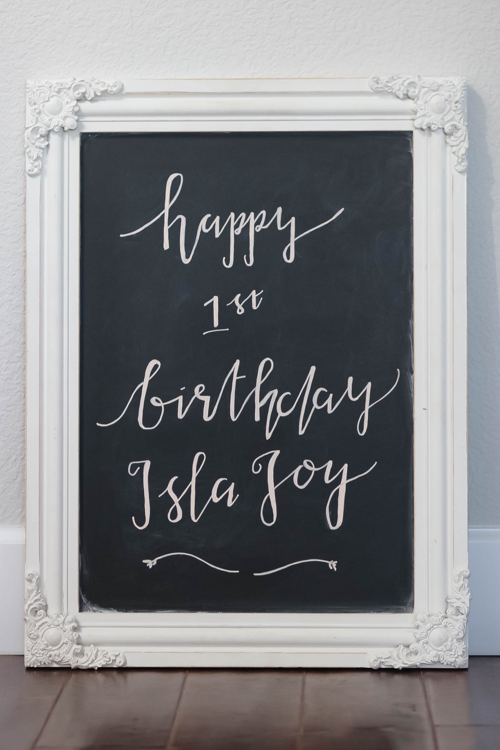 Chalkboard Calligraphy by my annoyingly talented sister ;)