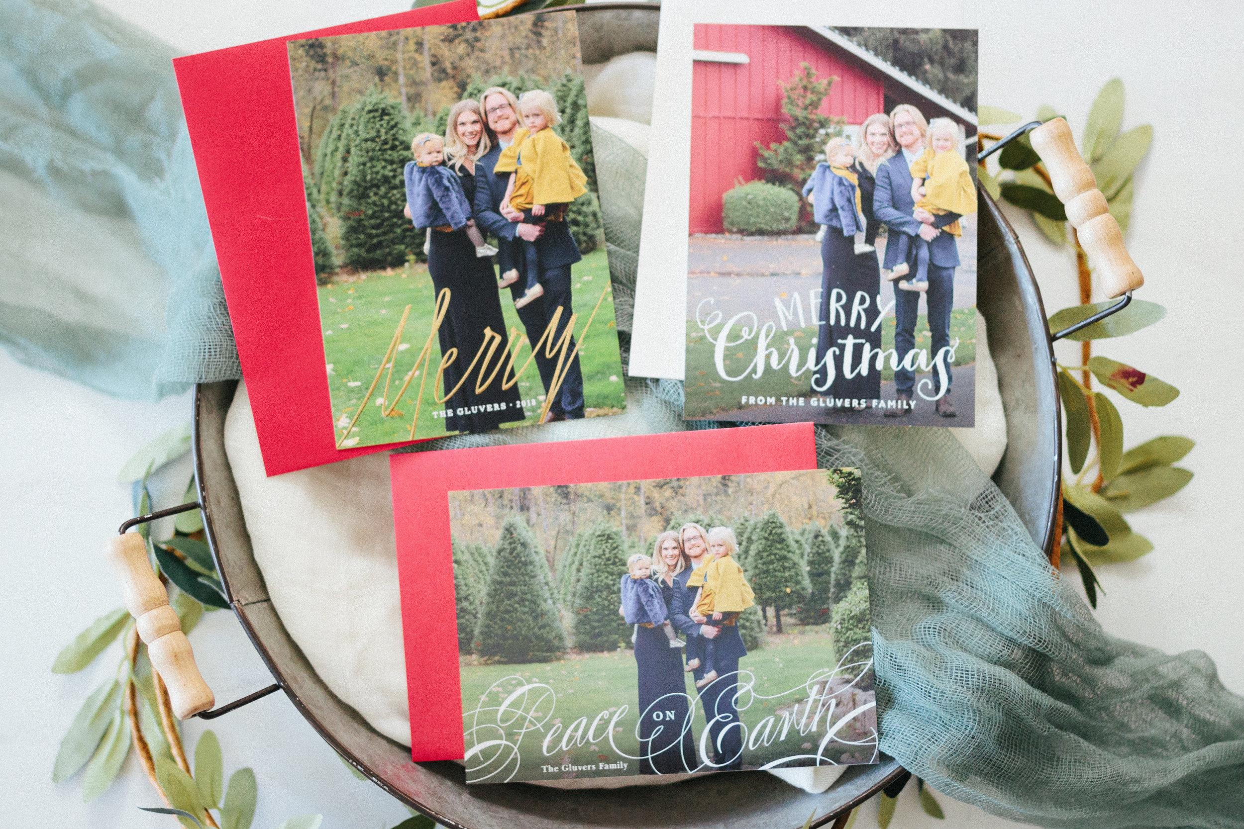 Featuring  Modern Merry ,  Peace on Earth Calligraphy , and  Happy Hand-Lettered Christmas Card