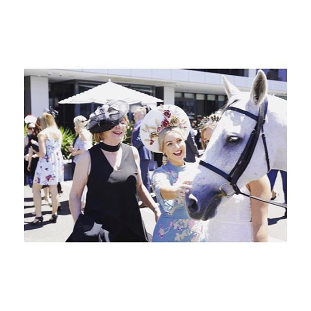 Olli loving all the attention at yesterday's #melbournecup 🎉@doltonehousebe and @thoroughlyolli ✌🏼️