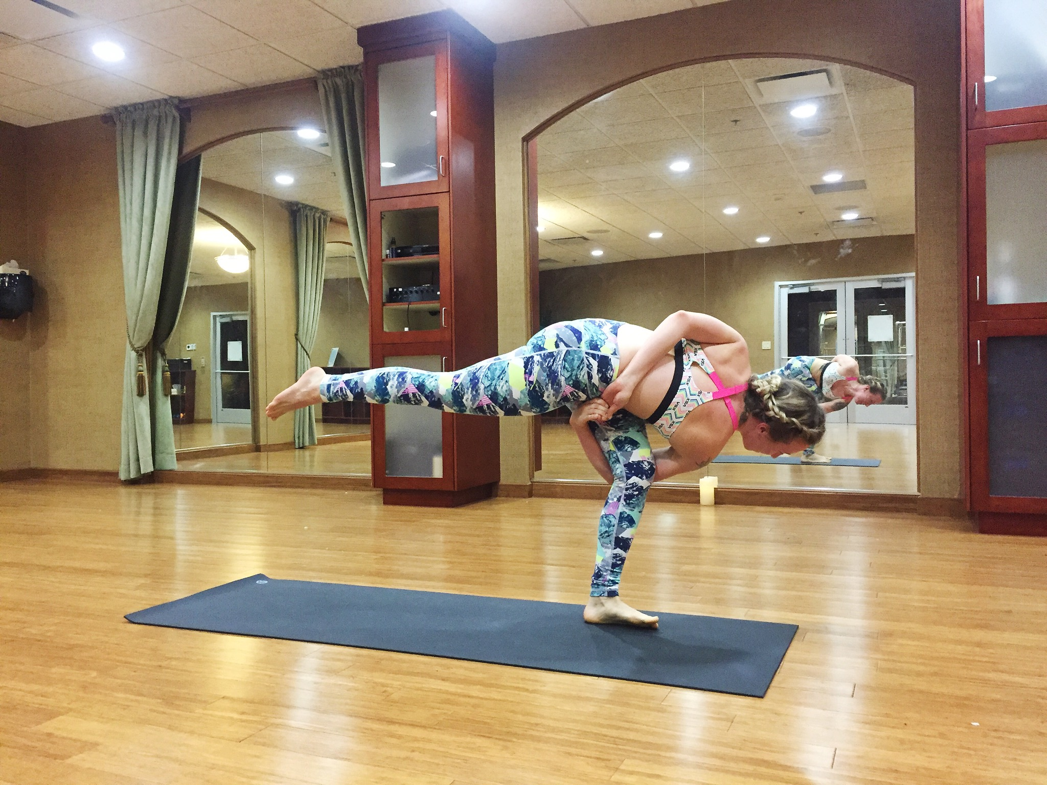 Standing Extended Side Angle Pose, Bound