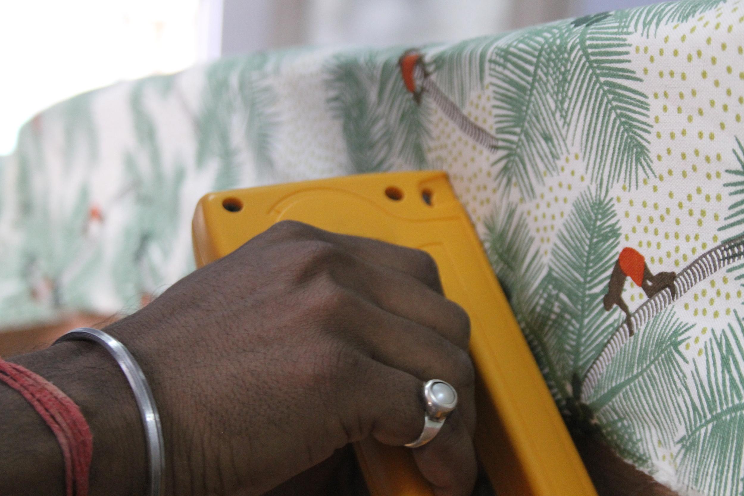 upholstery safomasi screenprint palm pickers