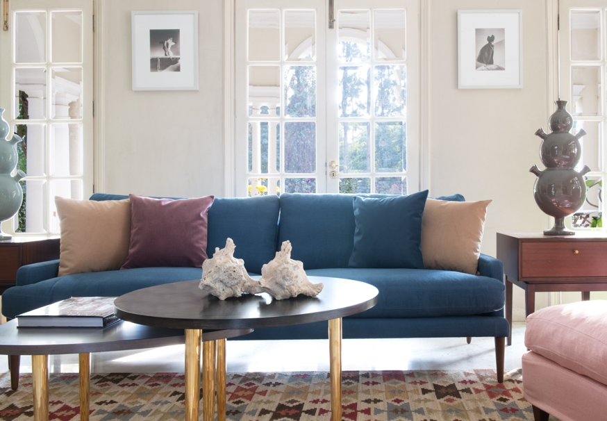 colourful midcentury modern living room