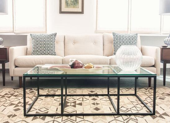 Midcentury Modern white sofa