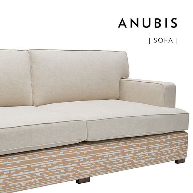Stop. Everything. Now. Check out this fabulous fabric detailing our brand new Anubis Sofa and *drool* #IqrupandRitz #comfy 👆🏼link in profile .. using the Congo Stripe from our new Iqrup + Ritz fabric collections