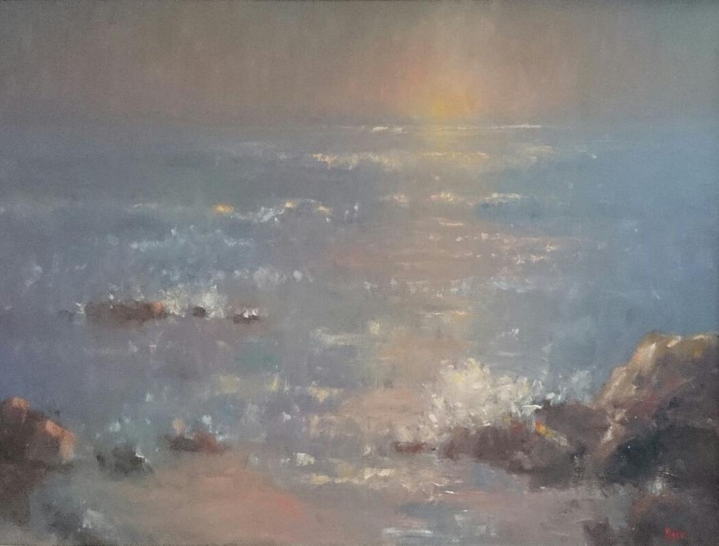 A Foggy Start. Shelly Beach Caloundra.