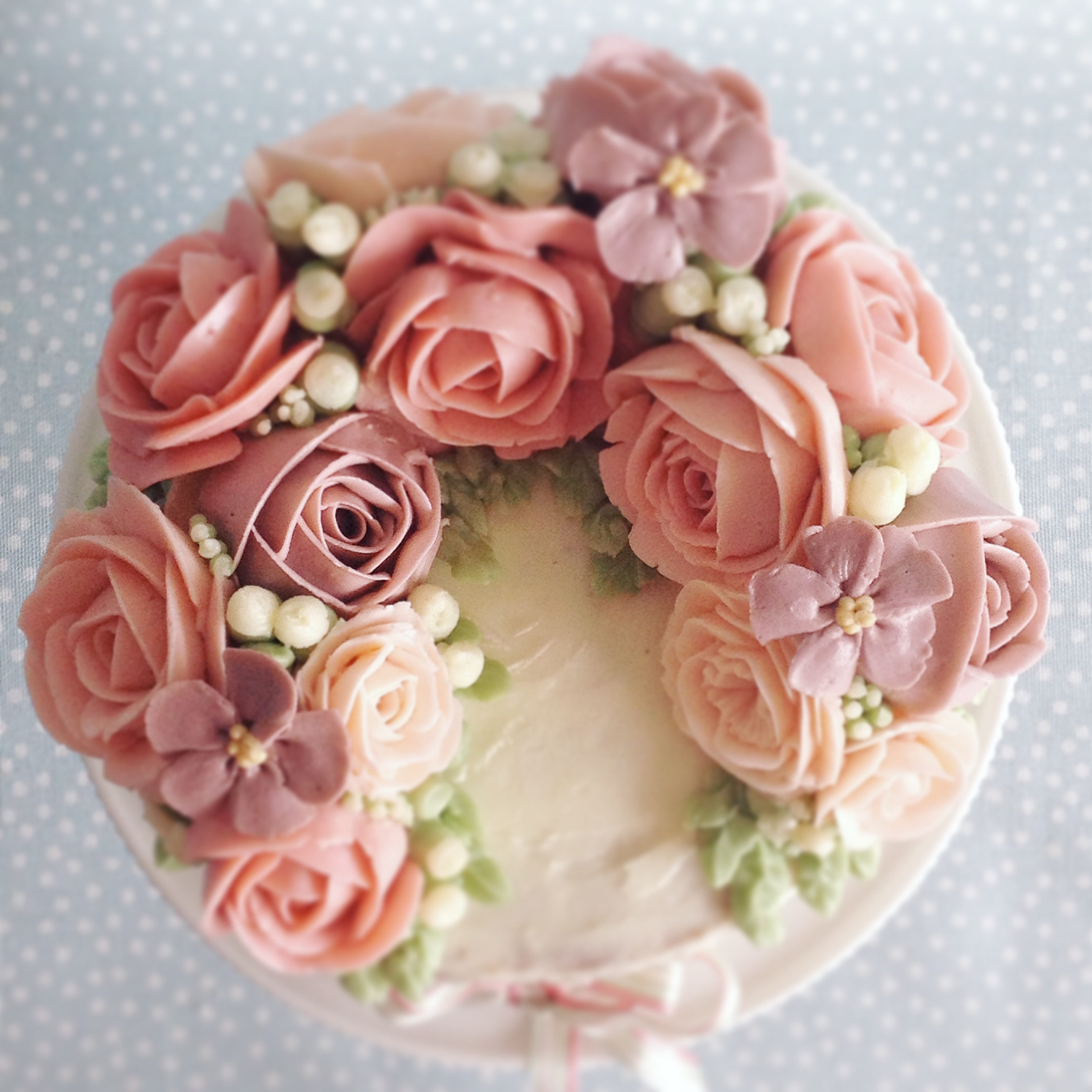 buttercream flower cake