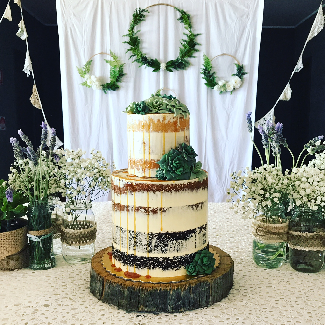 succulent celebration cake