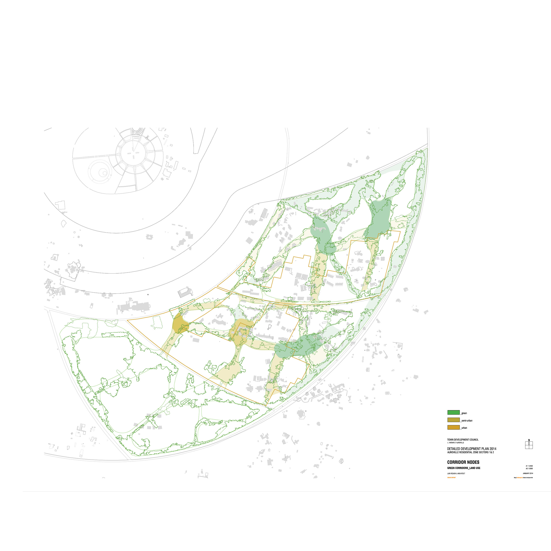 Proposed urban, suburban and rural nodes.