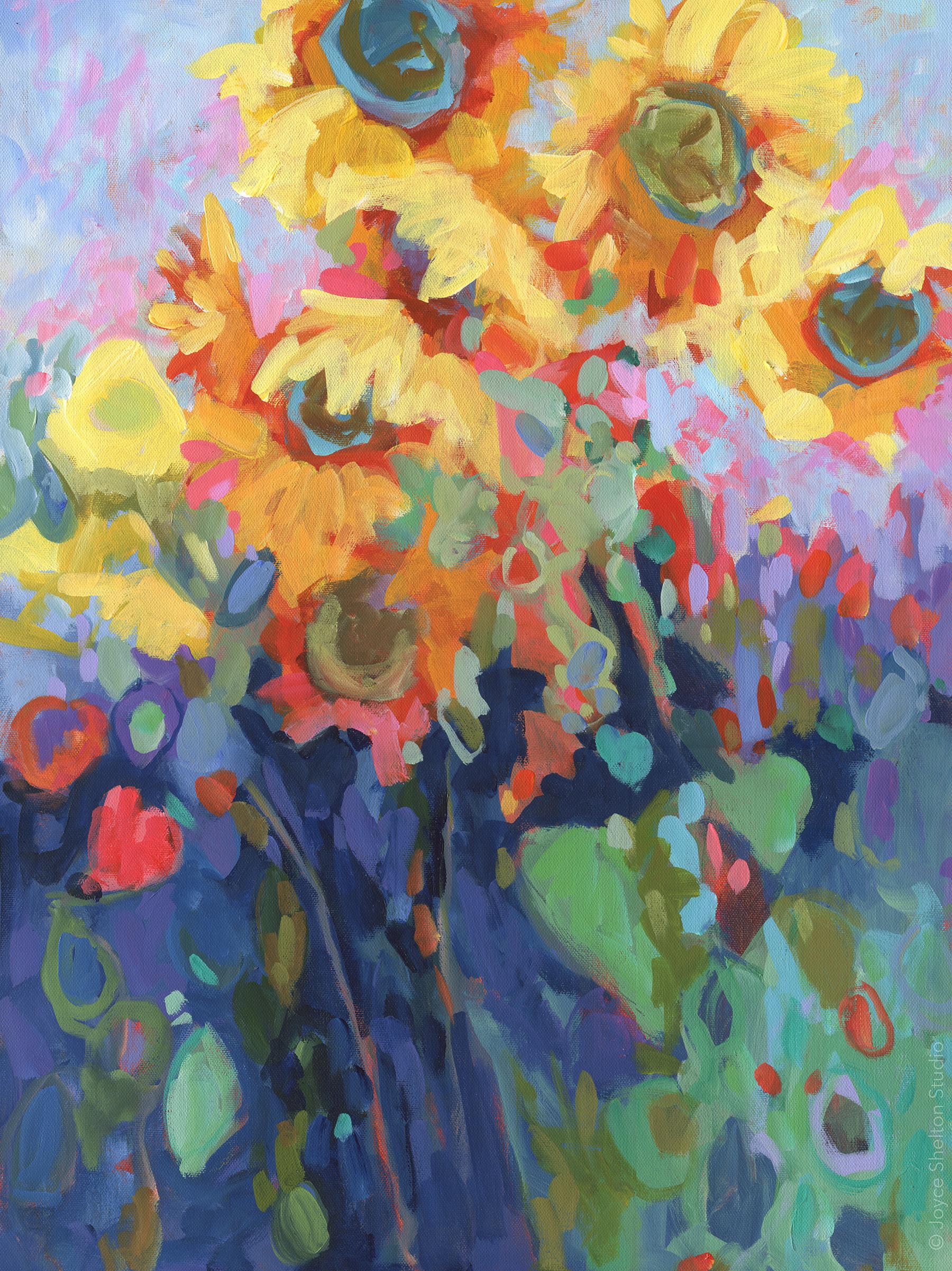 Sunflower Blue • AVAILABLE• Acrylic on Canvas