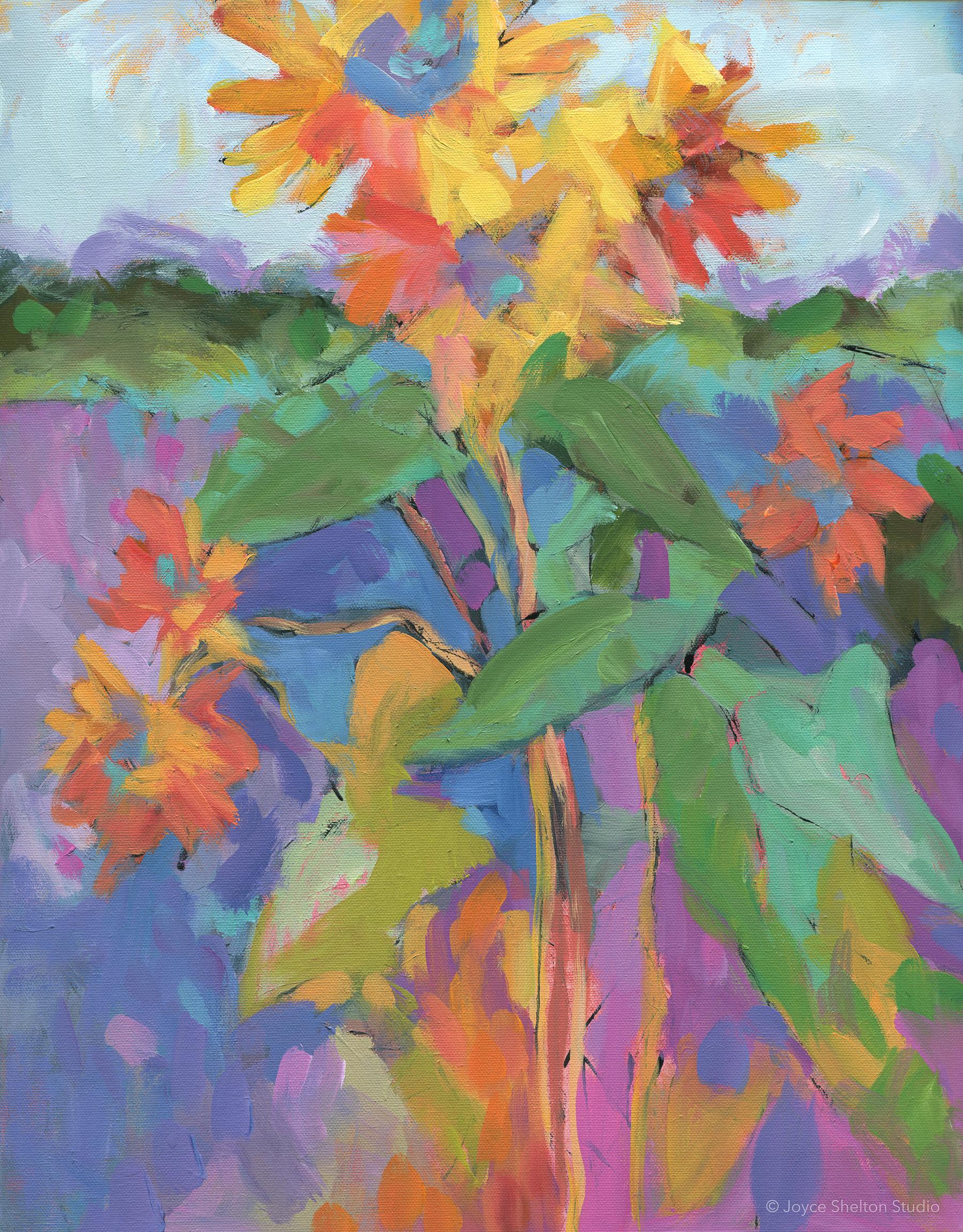Sunflowers en Provence  Acrylic on Canvas