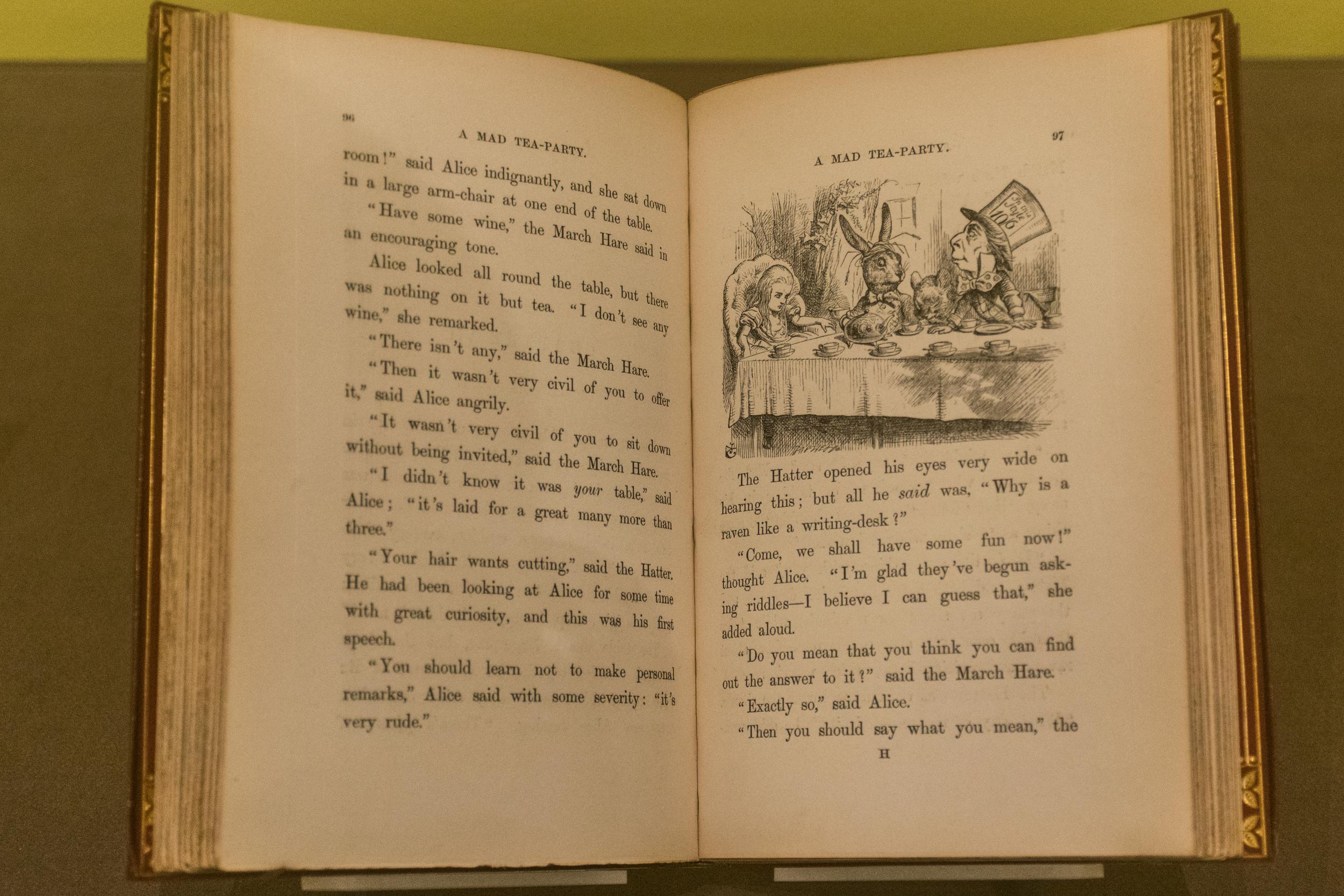 One of the rare remaining original copies of Alice in Wonderland