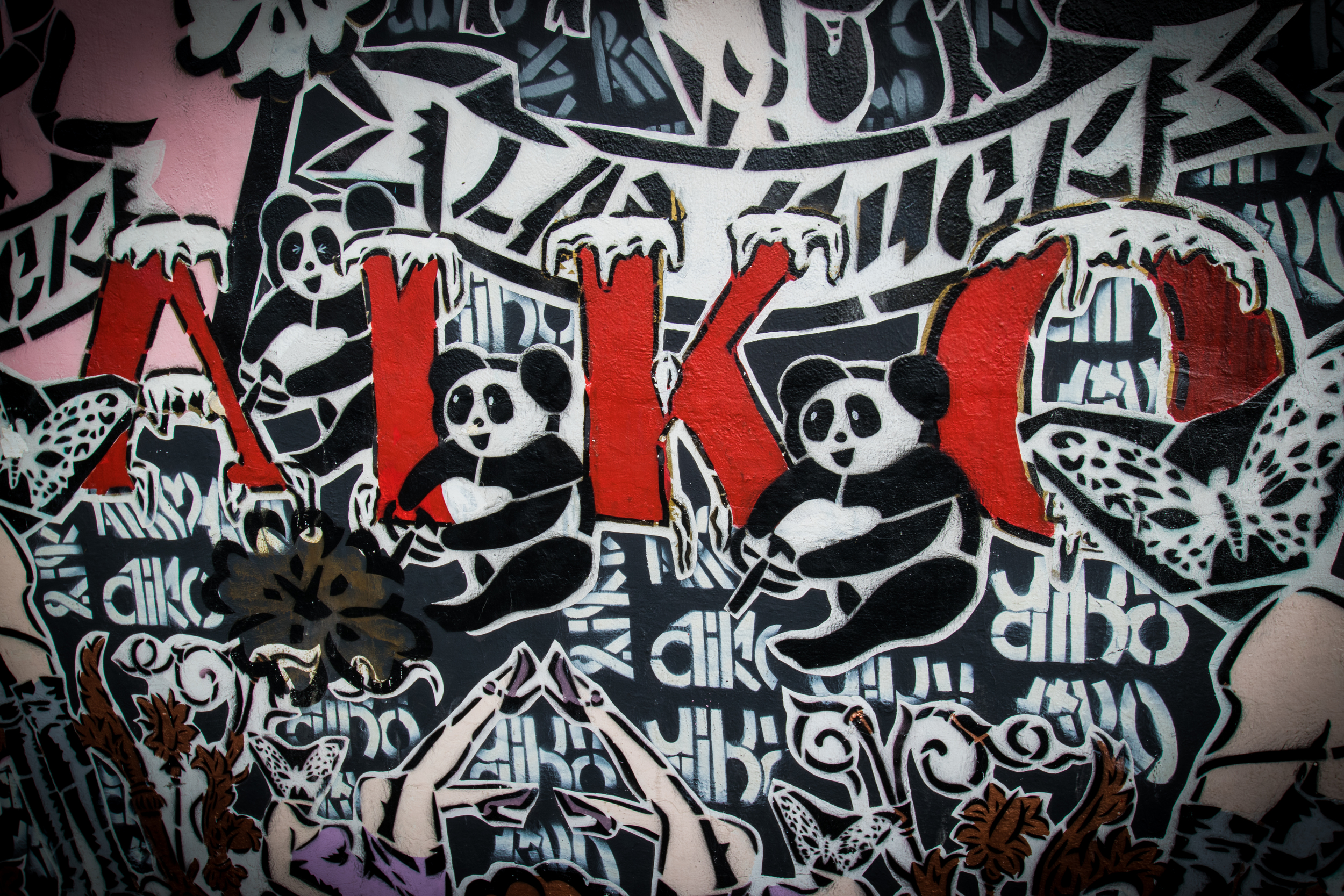 A small excerpt of the wall by Aiko from Tokyo, Japan