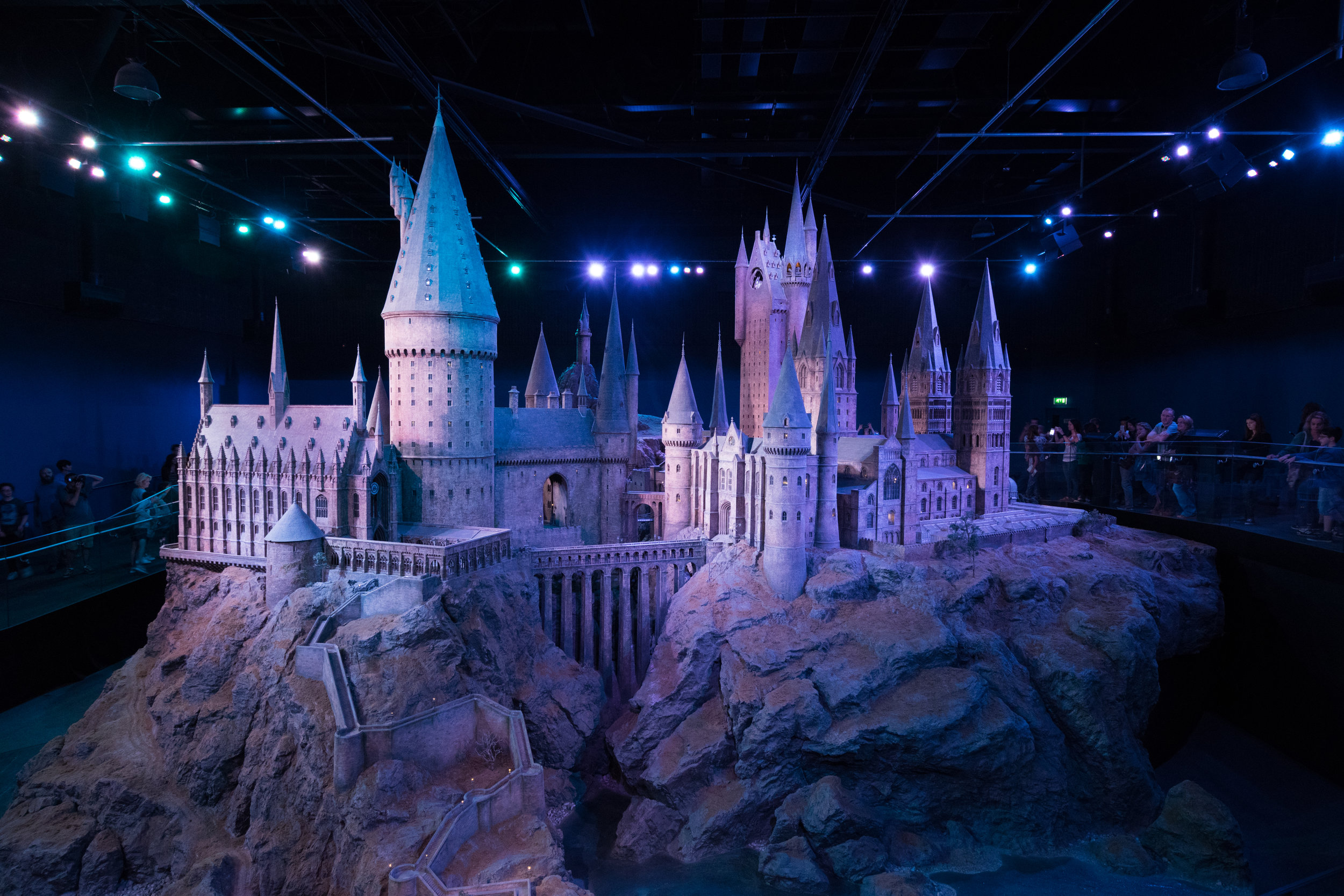 The master 1:24 scale model of Hogwarts, updated for every book and movie to include every new detail.