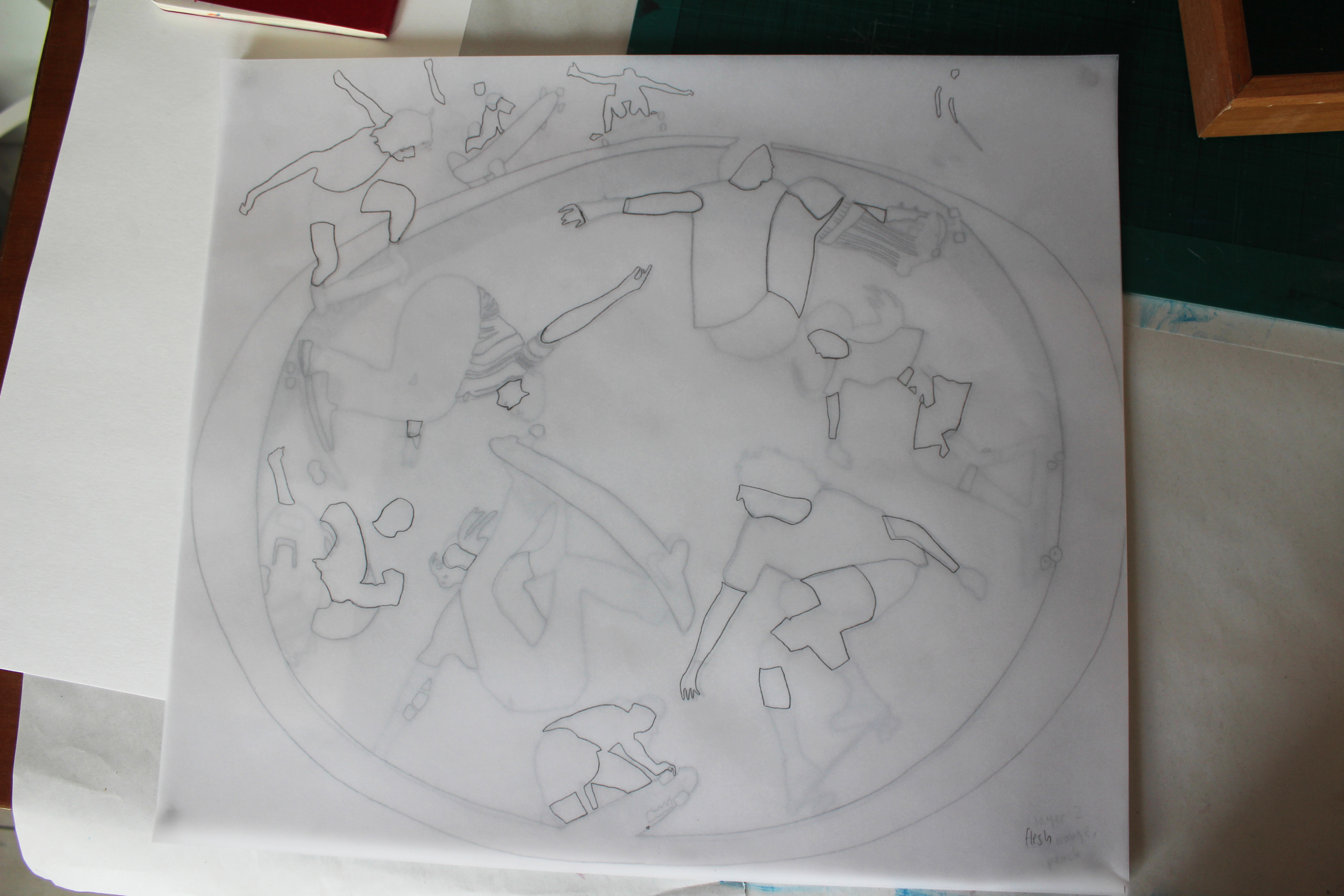 Here are all six layers traced, one of top of the other - so you can see the image emerging