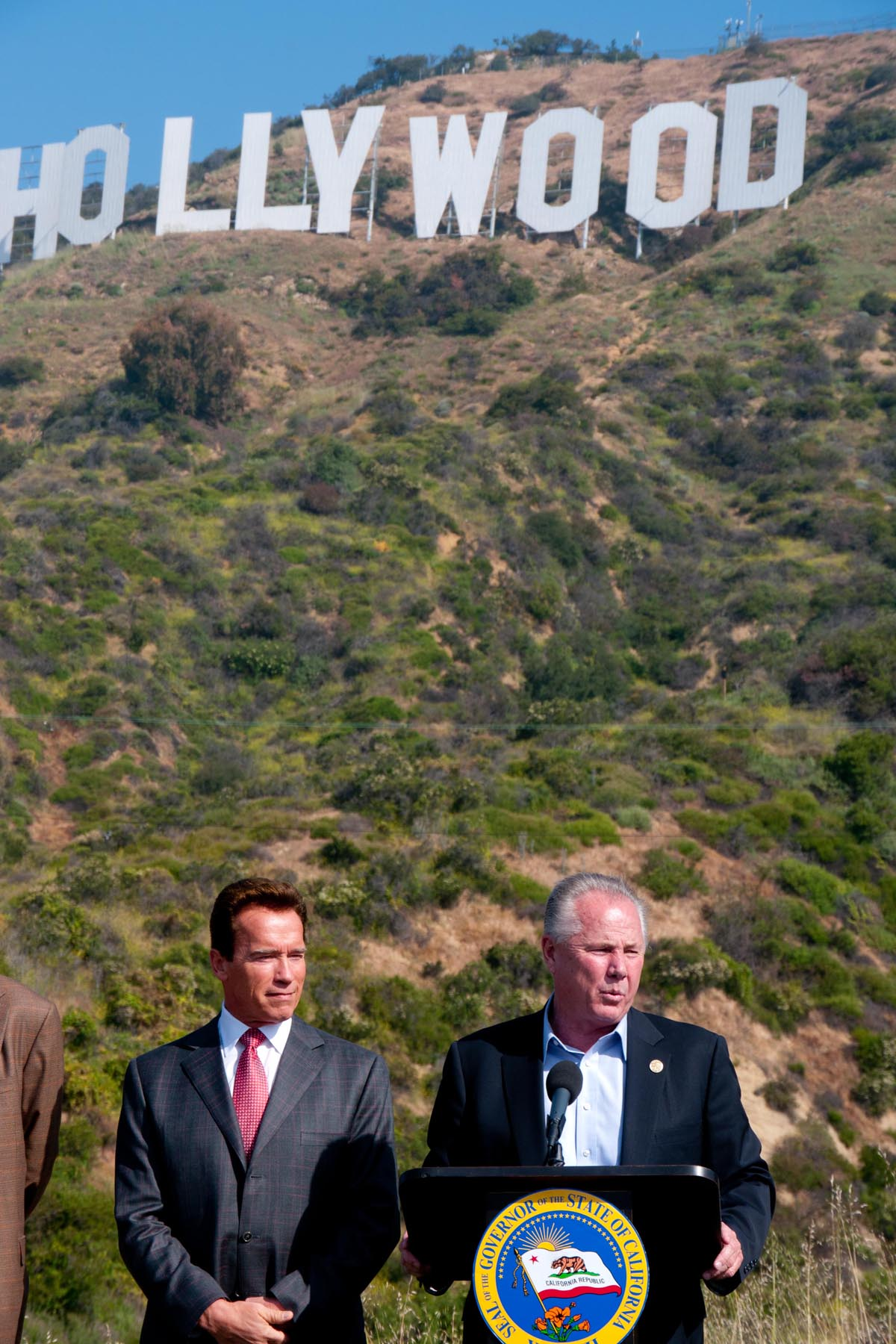 Governor of California, Arnold Schwarzenegger and Councilmember 4th District, Tom LaBonge
