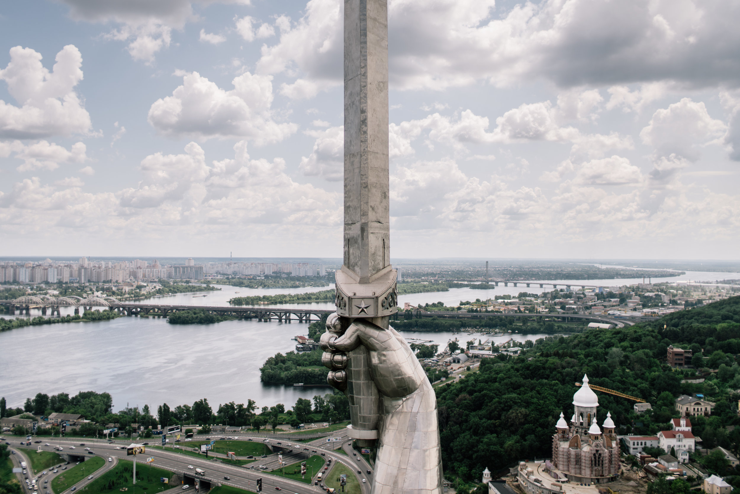 Will you dare climbing to the top of Rodina Mat for one of the most epic view on Kyiv ever?
