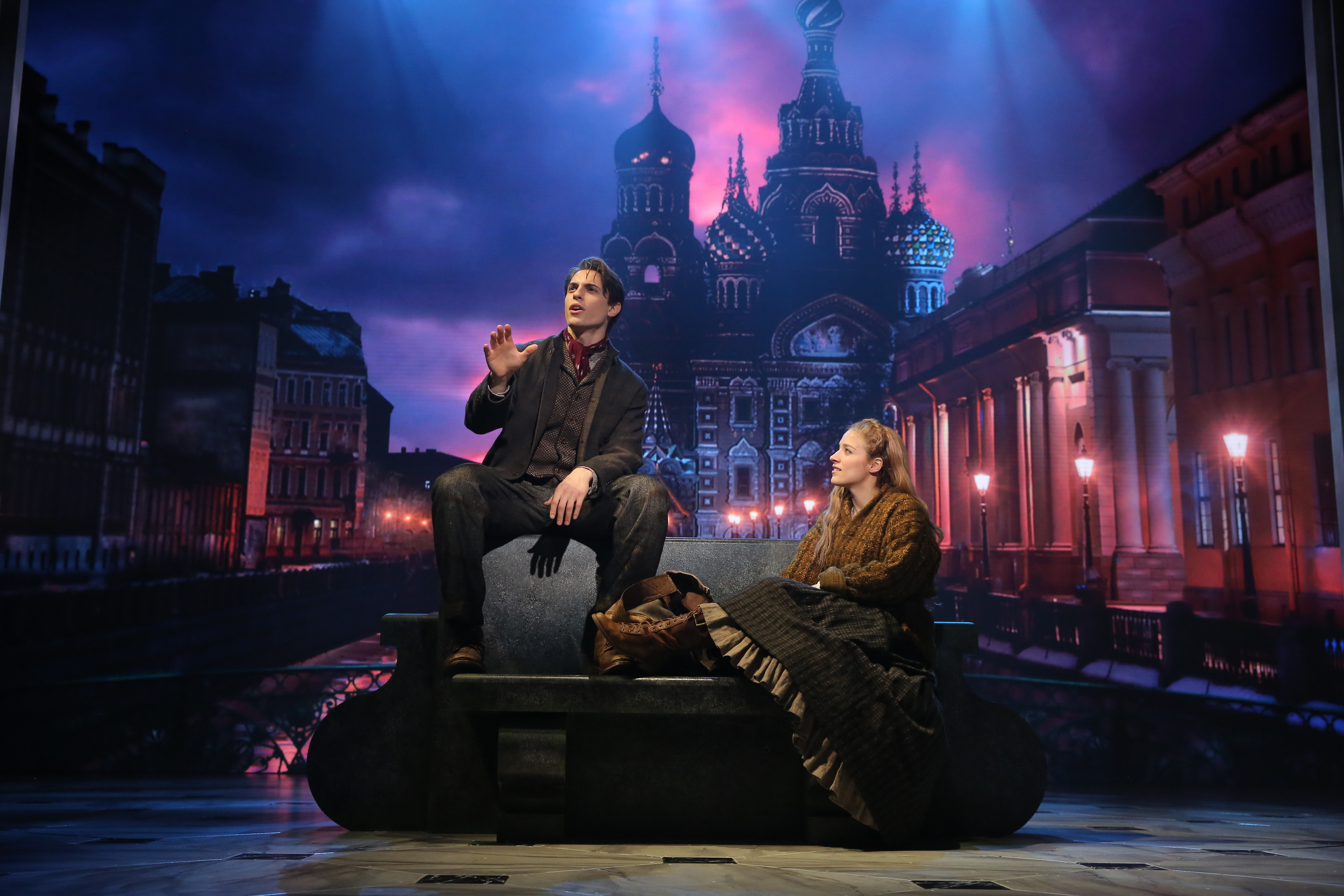Photo by Joan Marcus Featuring Derek Klena & Christy Altomare