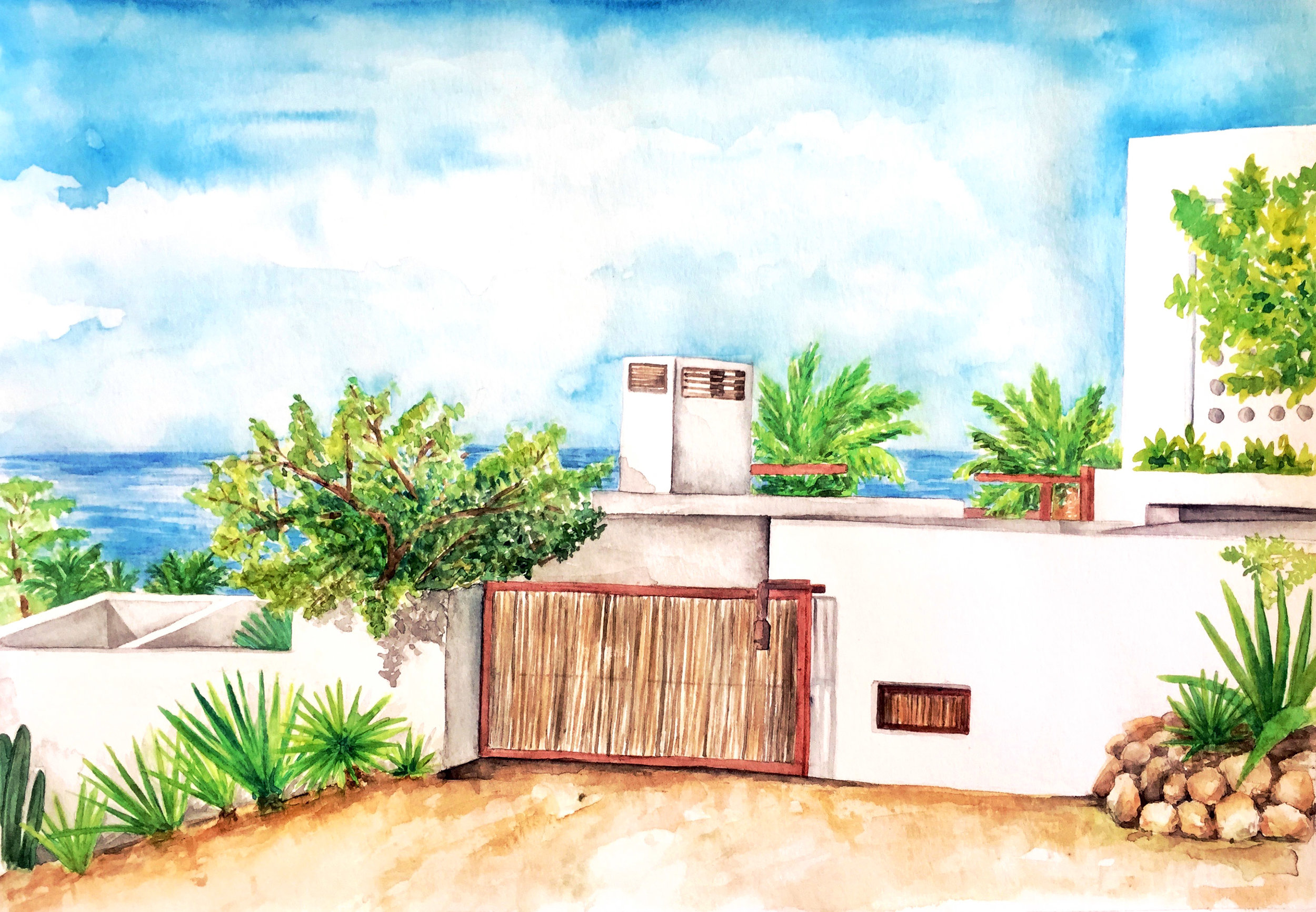 Watercolor, East Cape Baja, Mexico