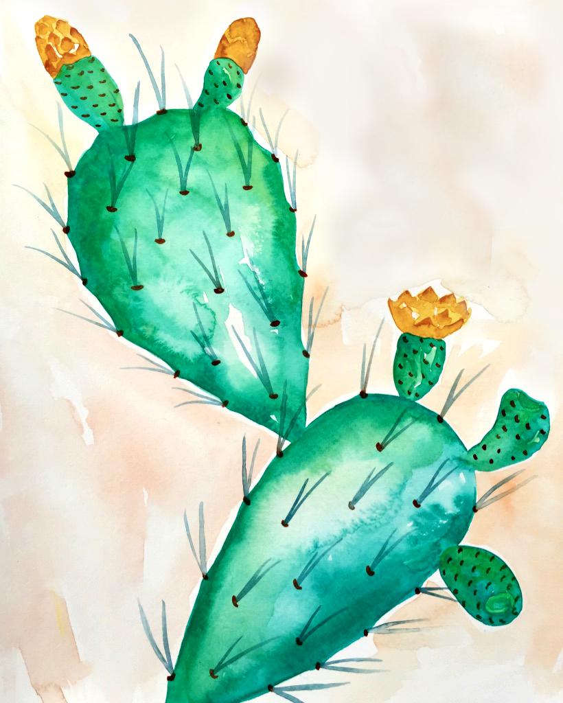watercolor pricklypearcactus ashleychase.jpg