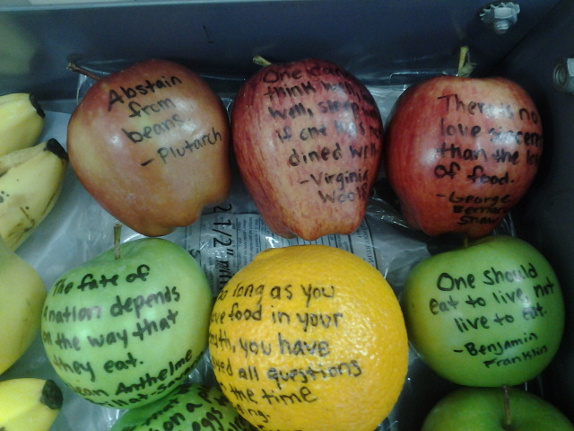 Apples and Oranges  with quotes from famous persons