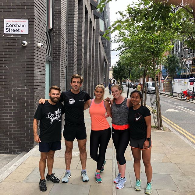 I believe the kids use the term #squadgoals 🤔 It's been ❤️warming to see this little group at @runtalkrun Old Street grow over recent weeks and months, a 30 minute gap in a busy Monday to get some fresh air, exercise and chat with like minded people 🙌🏼🥳🏃🏼‍♀️🏃🏼‍♂️ ⠀⠀⠀⠀⠀⠀⠀⠀⠀ RunTalkRun isn't group therapy, it's a  place for gentle exercise and a chat, and a reminder that people have your back 🙌🏼🙌🏼 ⠀⠀⠀⠀⠀⠀⠀⠀⠀ If this sounds like your kind of gang, would love to see you join every Monday lunchtime @ 12.30 WeWork Mark Square or WeWork Corsham 12.40🕺🏾💃 ⠀⠀⠀⠀⠀⠀⠀⠀⠀ #mentalhealth #instarunners #justrun #marathon #marathontraining #running #run #parkrun #5km #runners #race #notarace #summer #ukrunners #fitness #runchat #ukrunchat #worldrunners #instarun #instarunners #runnersofinsta #runnersofinstagram