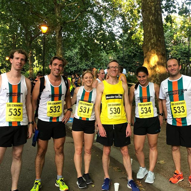 Great fun at this evening's Sri Chinmoy Battersea Mile Relays with the @morningtonchasers team 🙌🏼👌 snuck a nice mile PB with 5:08 after a 2:40 first 1/2 mile ⠀⠀⠀⠀⠀⠀⠀⠀⠀ #instarunners #justrun #marathon #marathontraining #running #run #parkrun #5km #runners #race #summer #ukrunners #fitness #runchat #ukrunchat #worldrunners #instarun #instarunners #runnersofinsta #runnersofinstagram #trail #ultrarunning #ultramarathon
