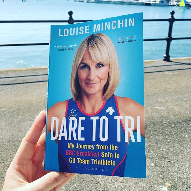 Over the last 10 days @fionalquinn has been cracking through this months read, @louiseminchin's Dare to Tri, whilst down at the @sotonboatshow. Where have you been reading this month?  #adventurebookclub #adventure #bookclub #reading #bookstagram #readoutside #booksoutside #triathlon #triathlonbook #adventureready #daretodo #haveago #louiseminchin #inspiringbooks #sportstories #getoutside #adventuremindset #tri #daretotri #swimbikerun #trilife #trilifestyle