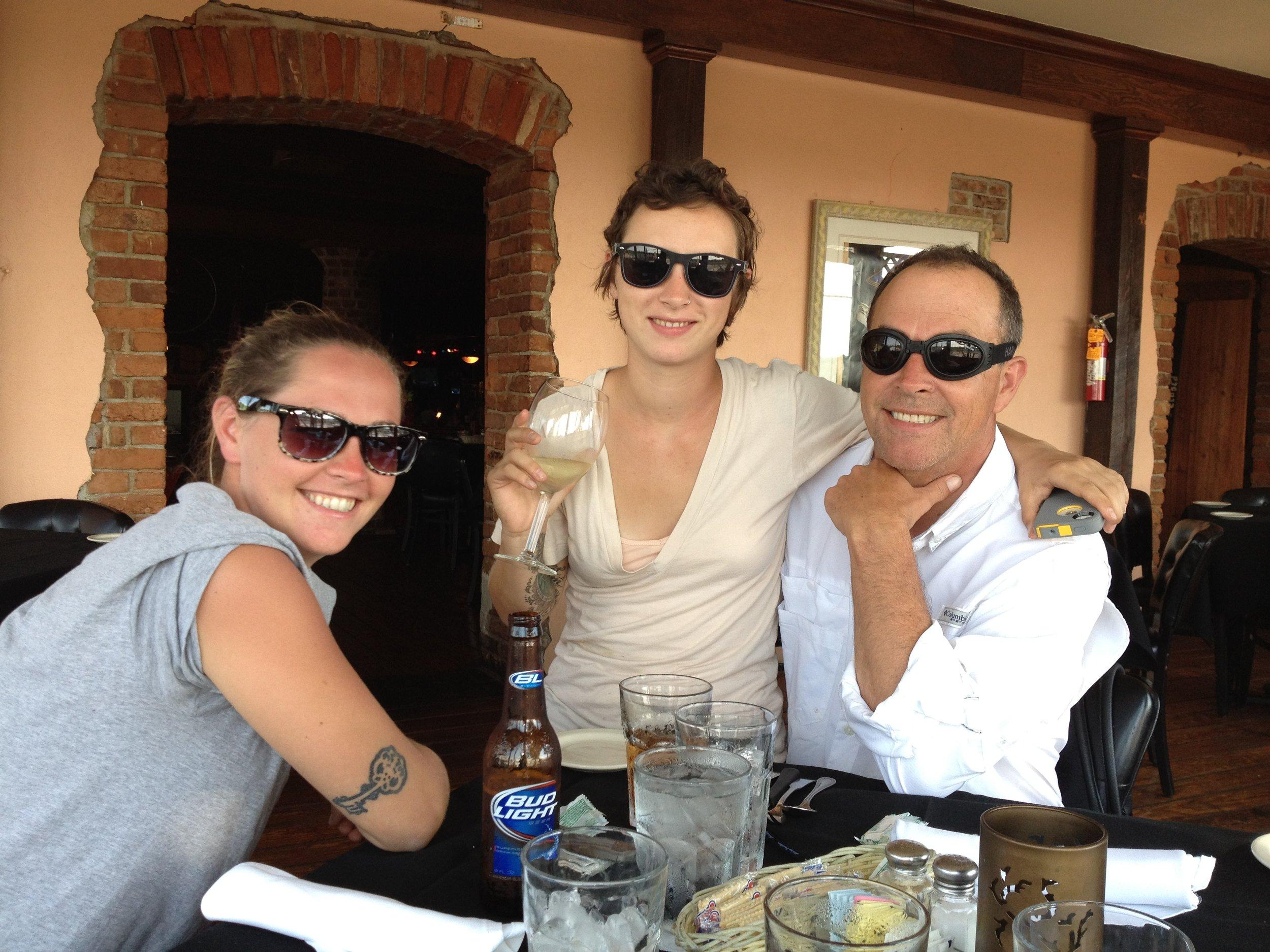 Jennifer, left, Jackie and Bill Ayars