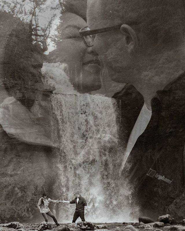 Mimi & Chris, during their pre-wedding shoot ⛲🔥 #preweddingshoot #prewedding #bridetobe #bridetobe2020 #waterfall #dramaticphotography #coupleshoot #adventurecouple #couplegoals #radcouples #adventure #ingletonfalls  #documentaryphotohraphy #documentarywedding