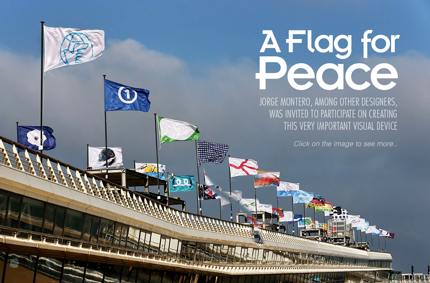 Jorge Montero and the flag of peace