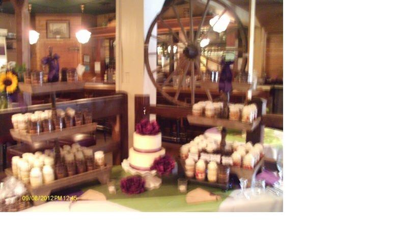 Cake display by wagon wheel.jpg