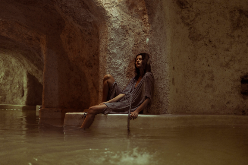 Athena Gown Dusk Valladolid Grotto Paula