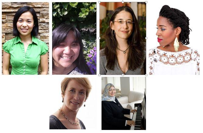 From top left to lower right: Aik Hooi Lee, Renee Schneider, Allyna Steinberg, Pyeng Threadgill, Belinda Mello and Mona Al-Kazemi