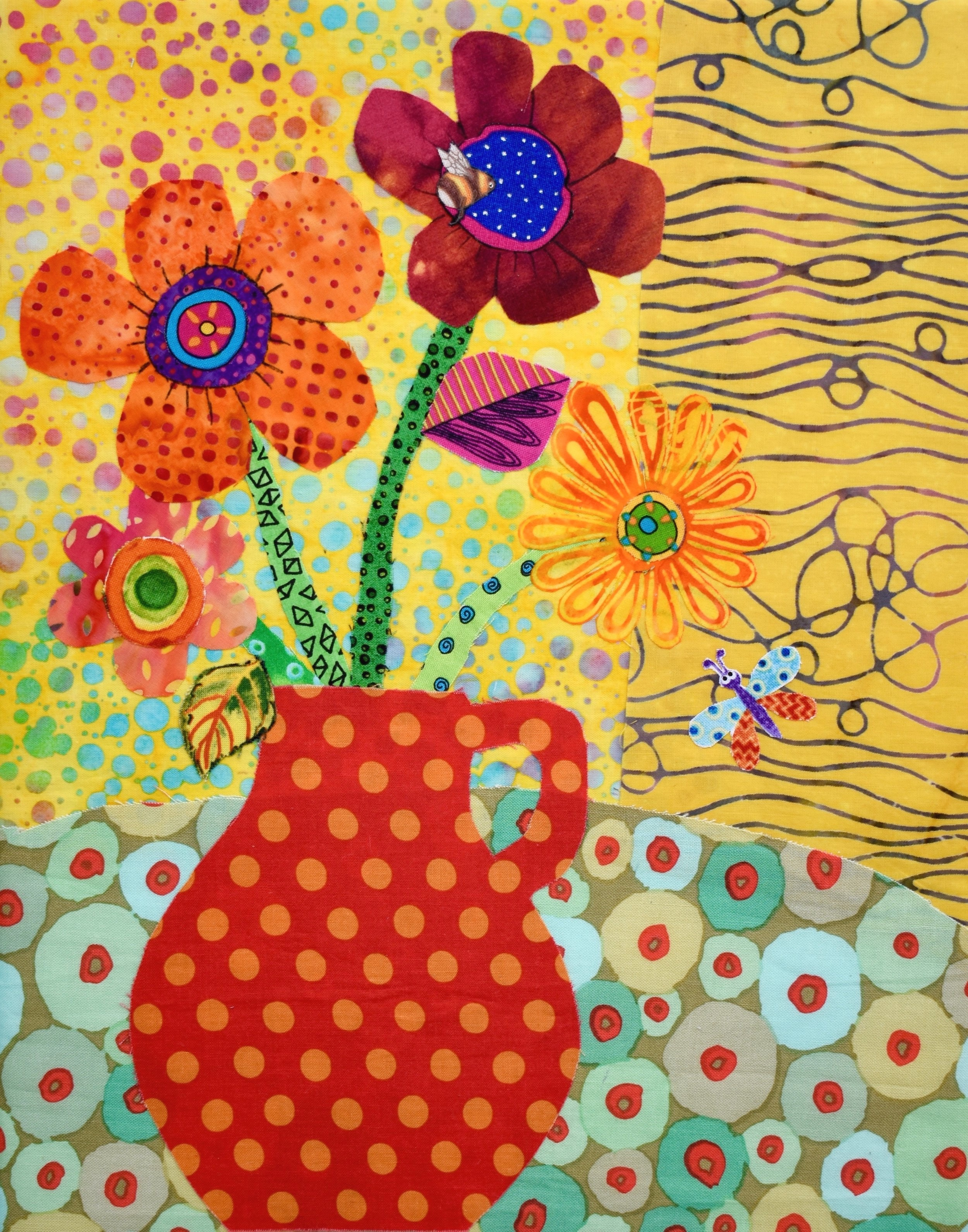 Playful Pot of Blooms - Class at the Ruth Funk Center for the Textile ArtAugust 19, 2019 1:00 - 4:00 pmSOLD OUThttps://textiles.fit.edu/events/ 150 W. University Blvd. Melbourne, Fl 32901