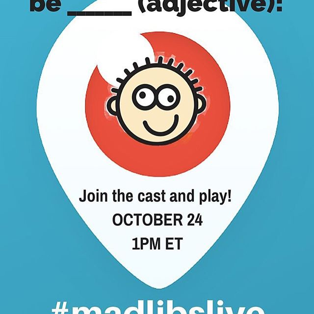 Join cast members on #periscope for our first #madlibslive scope today at 1pm ET Play #madlibs , win tkts and have _____(noun)! #newworldstages #musicaltheater #madlibs #musicaltheatre #newyorkcity #broadway #offbroadway #nyctheatre #nyckids