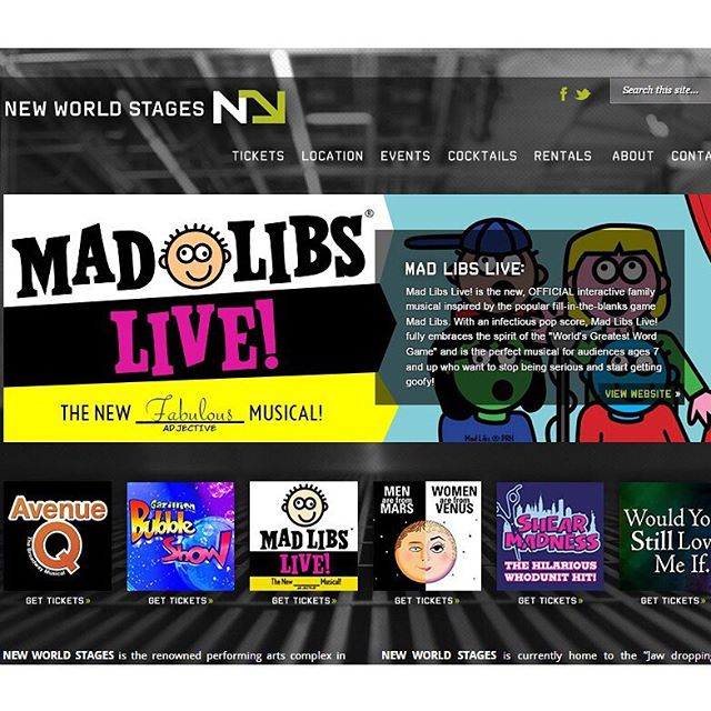 So excited to be featured alongside these amazing shows at #newworldstages ! #madlibslive #nyctheatre #newworldstages  #kidstheatre #nyctheatre #offbroadway  #nycevents