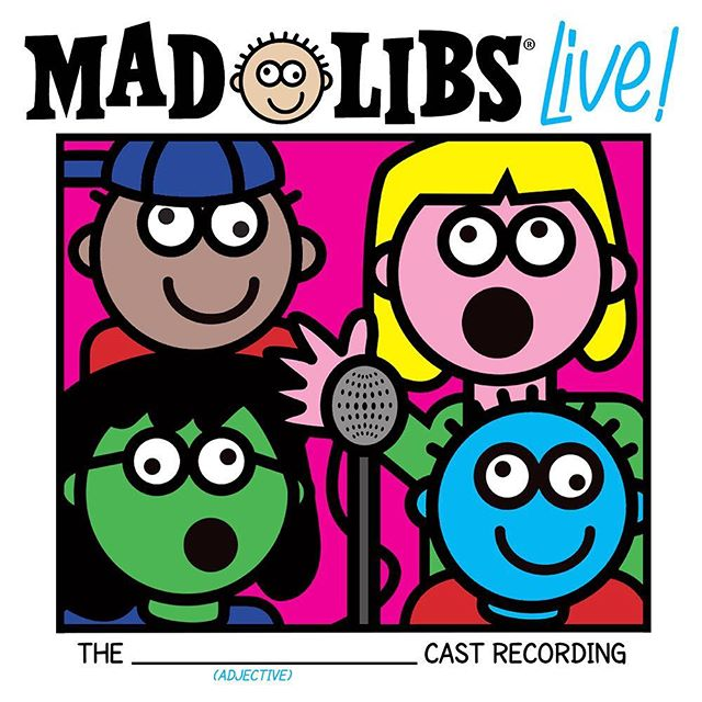 WOOOOHOOOO! We are so excited to announce that we're releasing our Original Cast Recording, with @bwayrecords Coming December 15th!! You can pre-order now on www.BroadwayRecords.com  GET (ADJECTIVE)!!!! • #MadLibsLove #MadLibs #OriginalCastRecording #BroadwayRecords