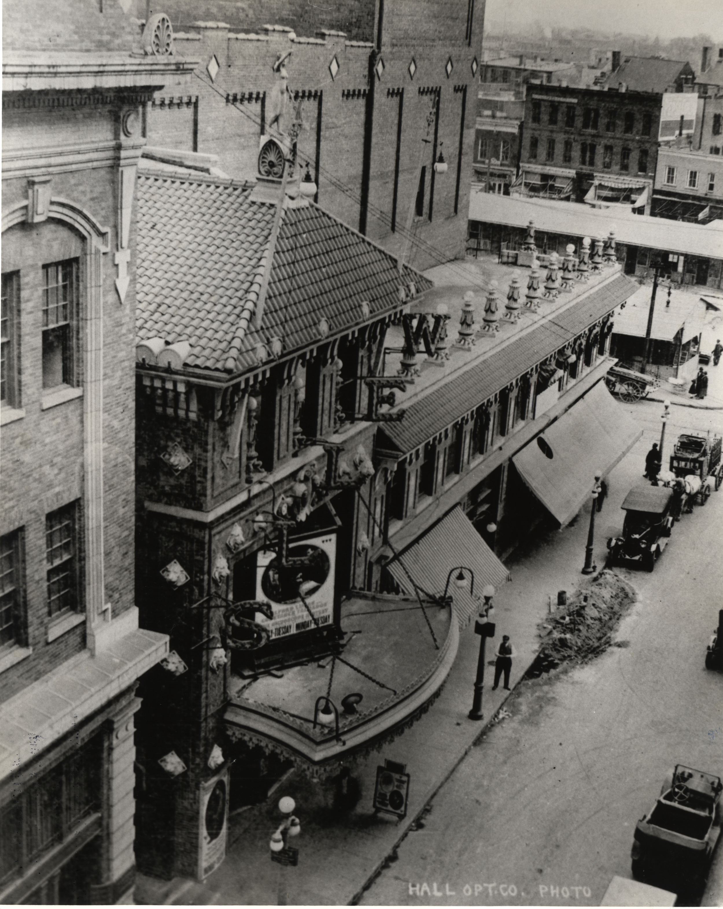 The Wells Theatre and Tazewell Street in the 1920s