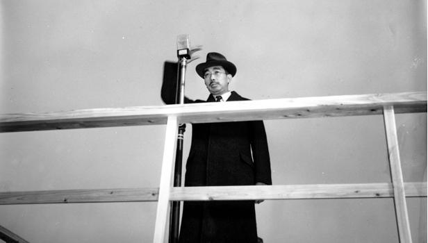 Above: Emperor Hirohito at his radio address