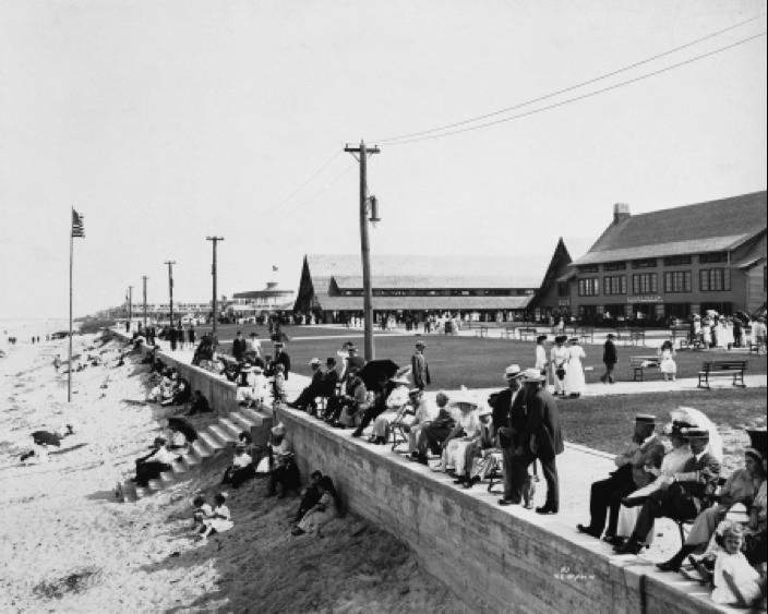 Virginia Beach boardwalk,1930s