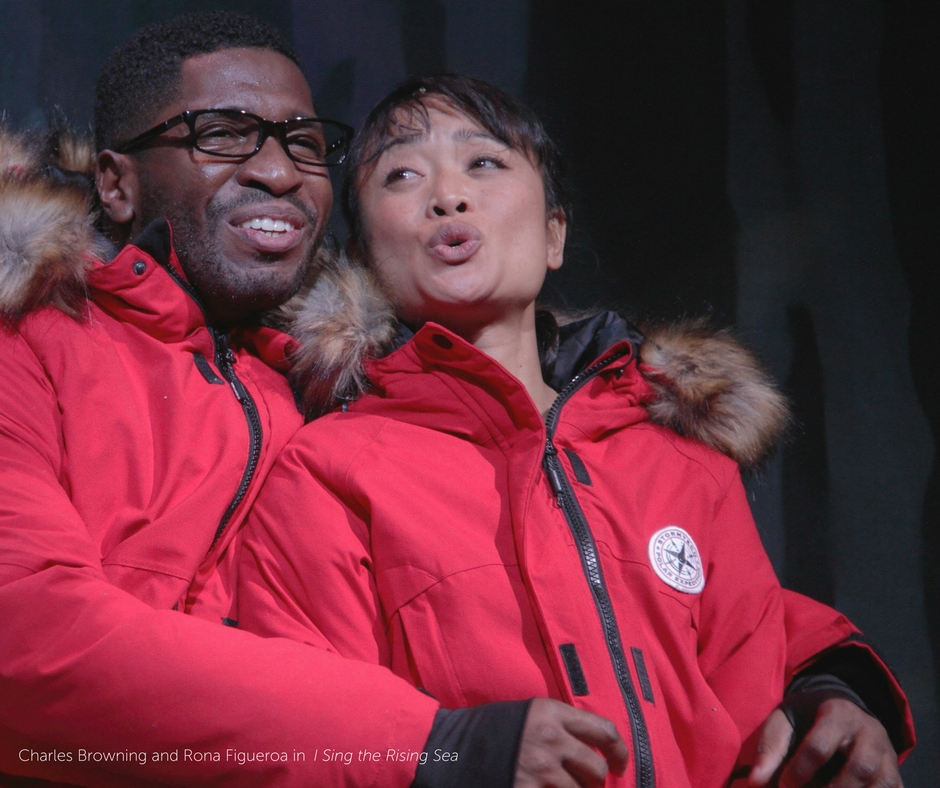 Charles Browning as Granby Jr. in I Sing the Rising Sea, Rona Figueroa as Misaki in I Sing the Rising Sea