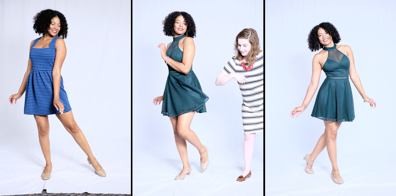 MaRah (and intern Olivia) during the photoshoot in our Main Street admin offices. (Photos by Jeff Gallo.)