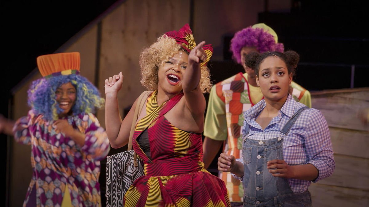"""Meredith Noel as Addaperle, left, and Alana Houston as Dorothy in """"The Wiz"""""""