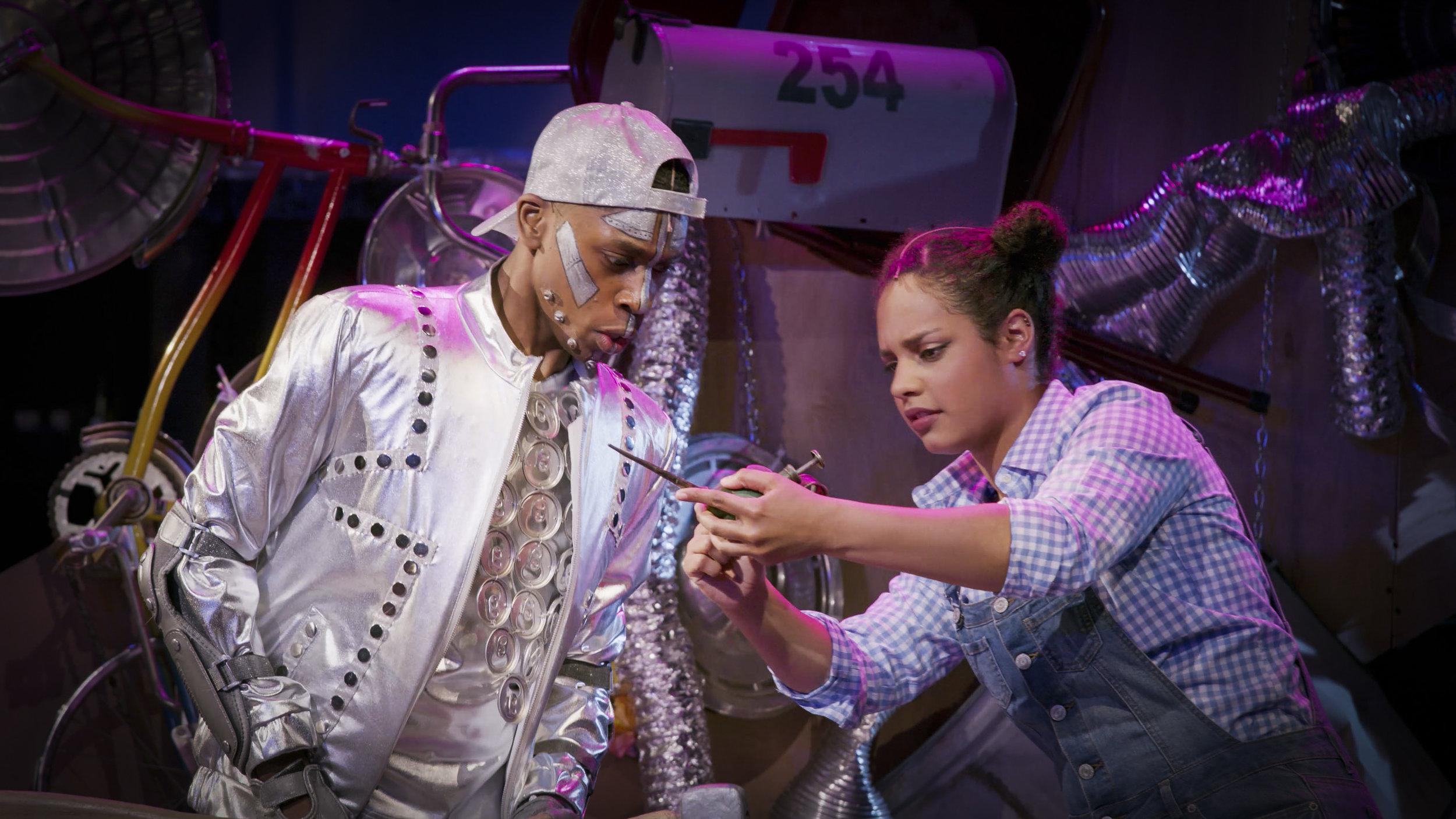 Jonathan Cooper as Tin Man and Alana Houston as Dorothy. (photo | Samuel Flint)
